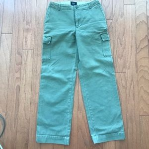 GAP Army green cargo utility pants cotton size 1